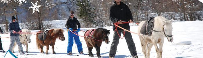 ski-jo dans les Hautes-Alpes